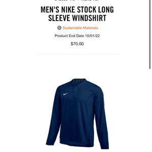 Brand New! MEN'S NIKE LONG SLEEVE WINDSHIRT